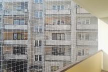 balkon z siatką