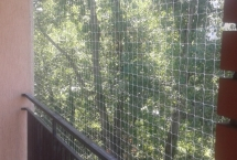 siatka na balkonie